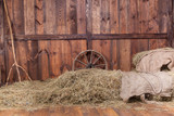 Wood and hay background - Fine Art prints