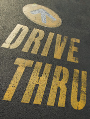 sign for a drive thru