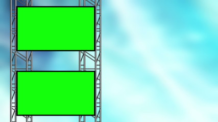 Animated Background Blue abstract and Green Screen Loop