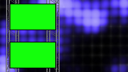 Looping Animated Blue High Tech Loop with Green Screens