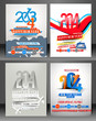 Set Of New Year Party Flyer & Poster Template