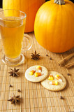 Candy Corn Cookies with Apple Cider