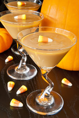 Candy Corn Carmel Pudding