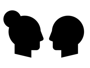 Woman and man vector profiles