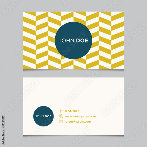 Business card template, background pattern