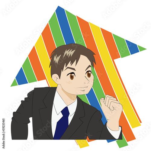 やる気マックス(ビジネスマン)