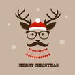 Christmas hipster deer