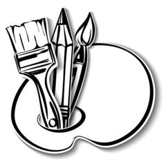 art Icons set. A vector illustration