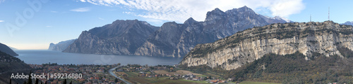 Garda Lake huge aerial view