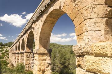 Ancient Roman Aqueduct in Spain, Europe