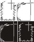 obituary - art deco frames with cross - 59240484