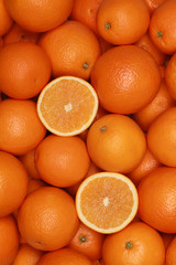 Orangen bilden einen Früchte Hintergrund