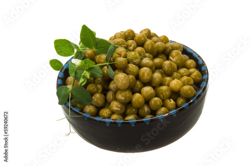 Marinated green peas