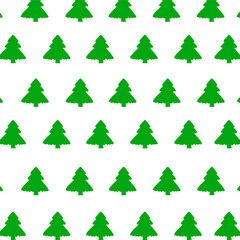 Green Christmas tree on white background