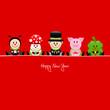 Ladybeetle, Fly Agaric, Chimney Sweeper, Pig & Cloverleaf Red