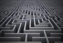 "Постер, картина, фотообои ""Difficult maze puzzle"""