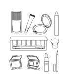 Set of cosmetic icon vector
