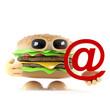 Burger has an email address