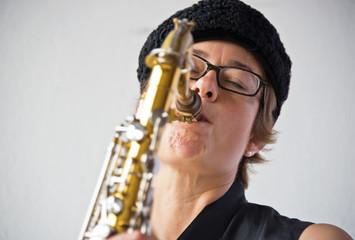 Saxophonespielerin