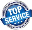 """Button Banner """"Topservice"""" blau/silber"""