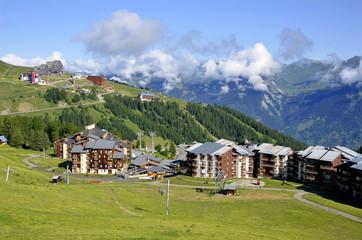 La Plagne in french Alps