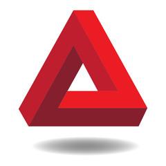 unmögliches Dreieck Vektor