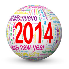 2014 Globe (sphere merry happy new year Christmas)