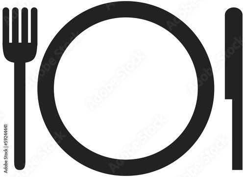 Picto assiette fichier vectoriel libre de droits sur la banque d 39 images image - Assiette dessin ...