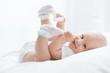 Leinwanddruck Bild - Portrait of a happy young child