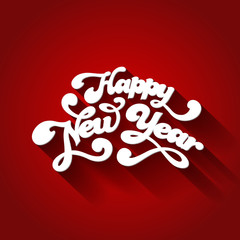 Happy New Year Typography. Creative design vector template
