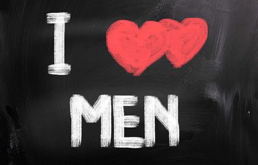 I Love Men Concept