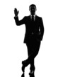 business man saluting  silhouette