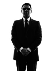 secret service security bodyguard agent man silhouette
