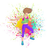 Fitness woman dancing Zumba