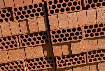 Pile of bricks on pallet