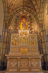 Antwerp - Carved altar with the reliefs in Joriskerk
