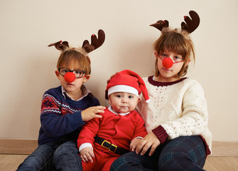 Santa Claus baby and siblings