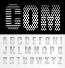 alphabet metal