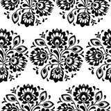 Seamless traditional floral polish pattern - ethnic background