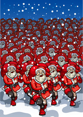Army of Santa Clauses