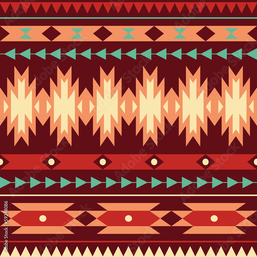 Vector seamless colorful decorative ethnic pattern - 59248086