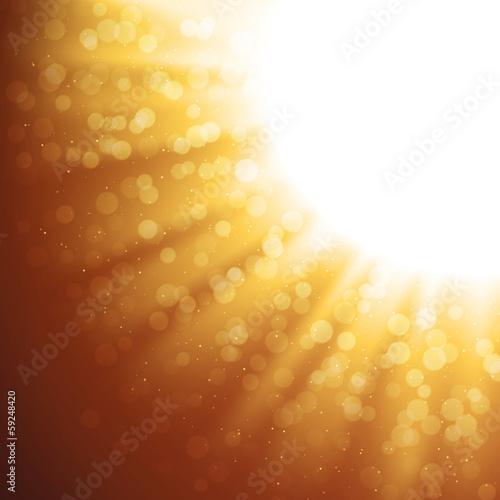 Abstract Gold Magic Light Background