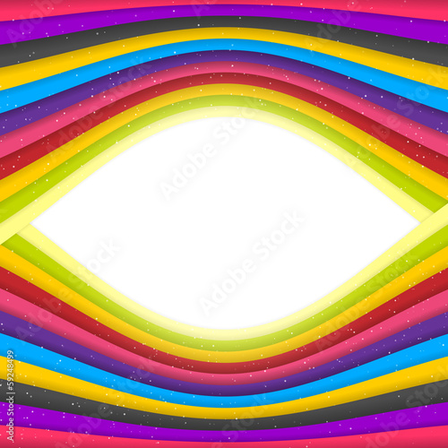 Rainbow Colored Stripes Banner