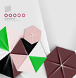 Hexagon business paper geometric shape