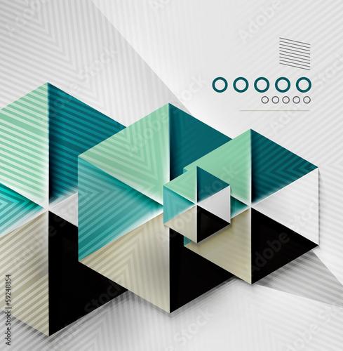 Hexagon business paper geometric shape