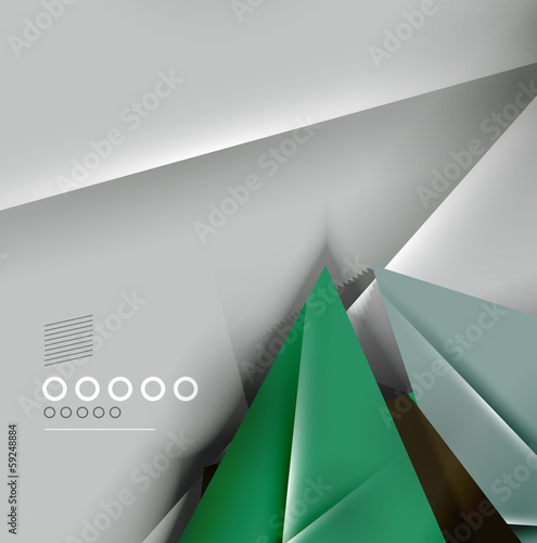 Paper business triangles abstract background