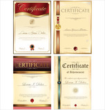 Certificate template, set