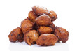 Pile of Dutch donut also known as oliebollen, traditional New Ye