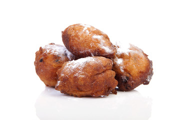 Four Dutch donut also known as oliebollen