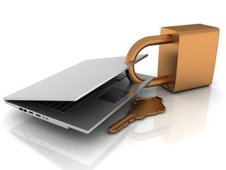 laptop lock and keys